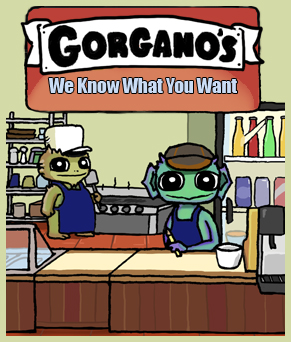 Gorgano's: We Know What You Want- nomchom comic cover