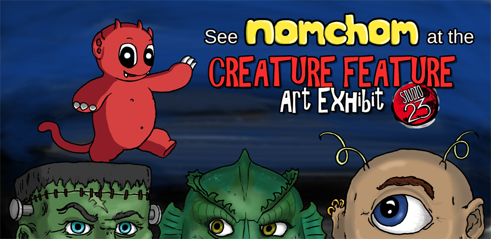 Creature Feature Exhibit Post Card